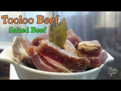 How to Make Tooloo Beef /Authentic Ghanaian Salted Beef +SURPRISE