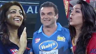 Highlights Of Sohail Khan's Energetic Play At CCL | Pranitha and Charme Kaur Cheering. #MumbaiHeroes