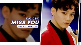 EXO CBX • Miss You | Line Distribution — Request #25.4