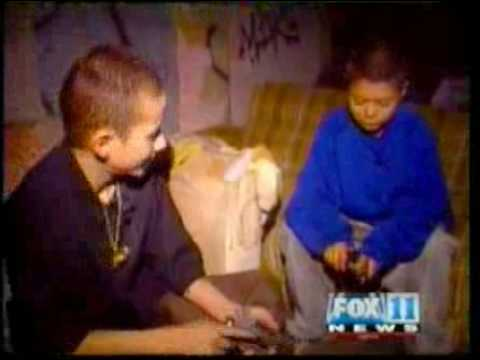 In 1990 Fox 11 news followed the lives of 12 year old gang members who had been shot already, and were involved in shootings in compton, CA