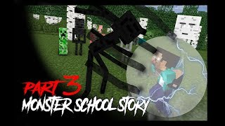 MONSTER SCHOOL : Herobrine's Life 3 (Monster School Story) - Minecraft Animation