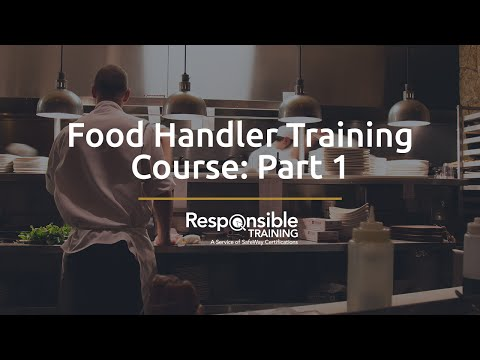 Food Handler Training Course: Part 1 - YouTube
