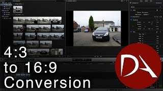 #FCPX Tutorial - Convert 4:3 to 16:9 | SD to HD
