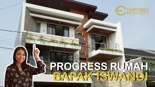 Video Construction Progress of Mr. Iswandi Private House Design - Bekasi
