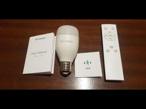 Banggood BlitzWolf® BW-LT27 RGBWW+CW 9W E27 Smart LED + IR Remote Control
