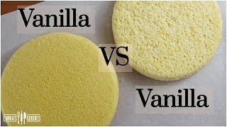 The Science Of BAKING CAKES - Vanilla Sponge Cake VS Vanilla Butter Cake