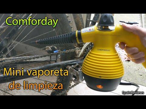 Comforday - Limpiador a Vapor Eléctrica con 9 Piezas de Accesorios