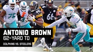 AB Out Runs the Dolphins Defense AGAIN for TD! | Dolphins vs. Steelers | NFL Wild Card Highlights