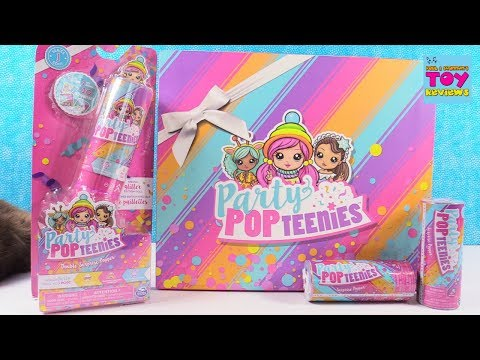Party Pop Teenies Surprise Popper Blind Bag Doll Unboxing | PSToyReviews