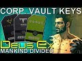 ALL 3 Keycards Corporate Vault Guide Deus Ex Mankind Divided