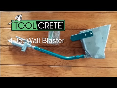 Stucco Sprayer 4 Jet Wall Blaster Feature Video