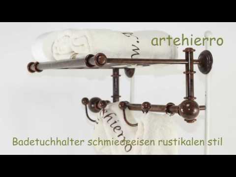 Badetuchhalter schmiedeeisen rustikalen Stil
