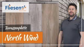 Holzoptik Terrassenplatten | North Wind 40x122 cm | langlebiges Feinsteinzeug in 2 cm Stärke