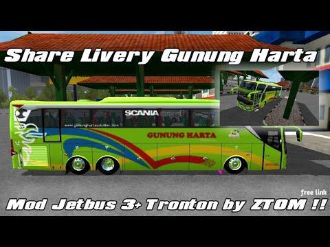 BUSSID || Review livery Gunung Harta, dengan mod Jetbus 3+ tronton by ZTOM!! FREE!