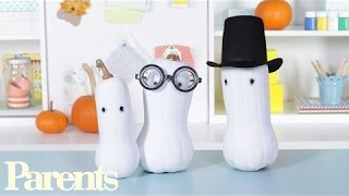 Homemade Halloween Decorations: Ghostly Gourds   Parents