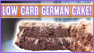 ingredients for homemade german chocolate cake