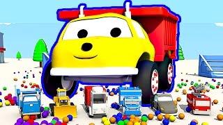 Trambolin ve Arabalar : Damperli Kamyon Ethan ile renkleri öğrenin