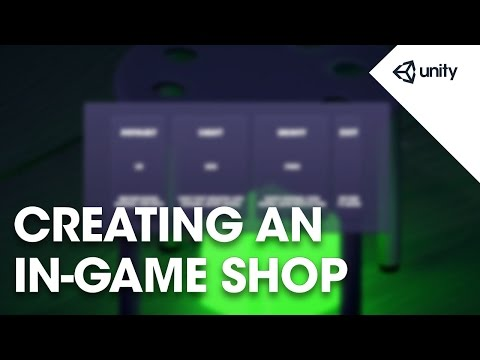 Creating An In-Game Shop - Unity