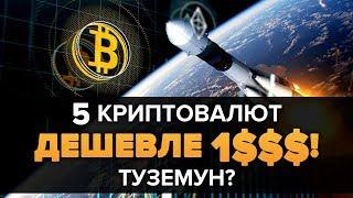 ТОП 5 АЛЬТКОИНОВ НИЖЕ $1 ЧТО ВЗОРВУТ В 2019! Изменят криптовалюту майнинг блокчейн и мир?