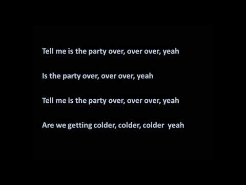 Party Over - Amelia Lily (lyrics)