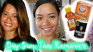 DIY- How To Get Rid of a Sun Tan FAST!
