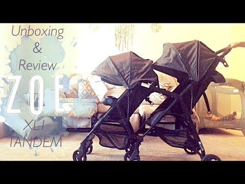 ZOE XL1 TANDEM STROLLER UNBOXING & REVIEW | NOAH GREY