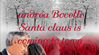 Andréa Bocelli Santa Claus is coming to town