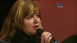 Angélica Rizzi falando do seu novo CD no programa Estação Cultura da TVE-RS