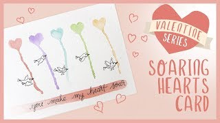 EASY Watercolor Heart Valentines Day Card | 2019 Valentine Series