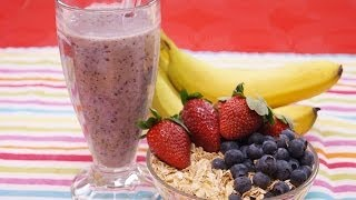 Healthy Oatmeal Breakfast Recipe: Banana Berry: Smoothie Recipe! How To: Dishin With Di 128