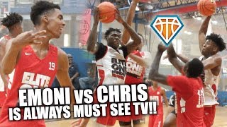 Emoni Bates vs Chris Livingston is MUST SEE TV!! | + Gregg Glenn POSTERIZES Defender at Elite100
