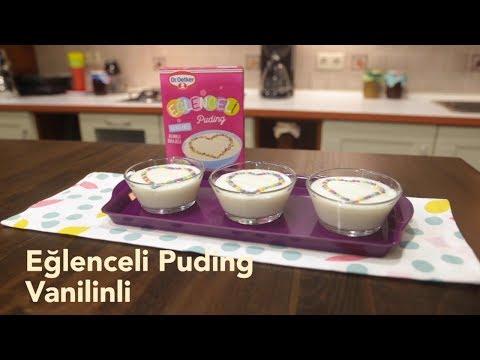 Eğlenceli Puding Vanilinli-renkli Drajeli