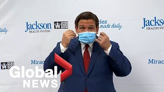 Coronavirus: Florida governor Ron DeSantis gets heckled by protester during COVID-19 update | FULL