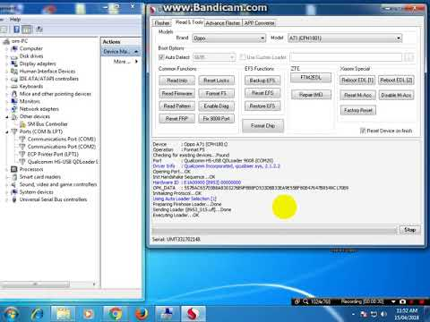 Oppo A71 Cph1801 Qualcomm Pattern Pin Factory Reset Unlock
