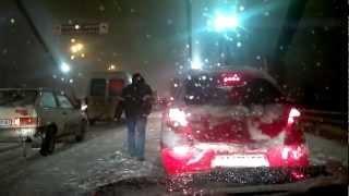 Киев 23.03.2013 1:00 ночи. Буран (Kyiv Ukraine. Snow аpocalypse 1:00 a.m.)