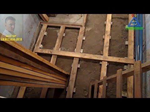 Монтаж деревянного пола своими руками  - смотреть видео