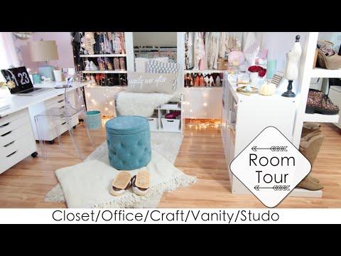 5 Into 1 Room Tour + DIYs Closet/Office/Beauty Room/Craft/Studio (LisaPullano)