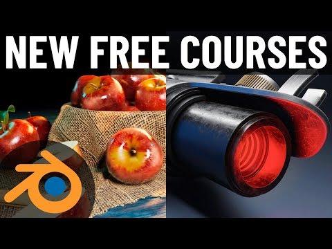 New FREE Courses for Blender 2.8