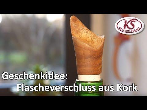 Accessoires selber drechseln: Flaschenverschluss aus Kork