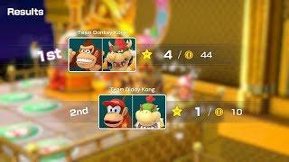 Super Mario Party Partner Party #377 Tantalizing Tower Toys DK & Bowser vs Diddy Kong & Bowser Jr