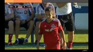 Charlie Bontis scores (Toronto FC v Deportivo de la Coruna) TFC Academy - Instagram: charlie.bontis