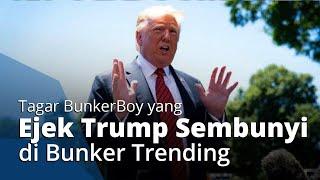 Trump Diungsikan ke Bunker saat Kerusuhan Demo Kematian George Floyd, Tagar BunkerBoy Trending