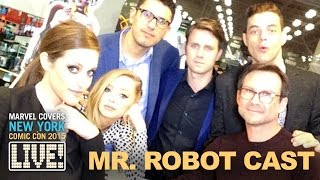 "The Cast & Crew of ""Mr. Robot"" come to Marvel LIVE!"