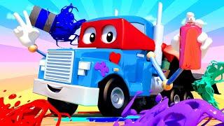 Videa s náklaďáky pro děti - Supernáklaďák namaluje grafitti