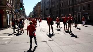 Роллер-пробег по центру Санкт-Петербурга 19 мая 2012 года