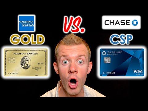 AMEX GOLD vs. CHASE SAPPHIRE PREFERRED!