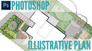 Landscape Illustrative Photoshop Plan