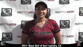 2021 Maya Bell First Base Softball Skills Video - Extreme Fastpitch