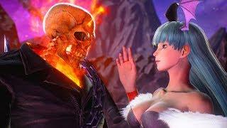Morrigan attempts to Seduce Ghost Rider | Marvel vs Capcom: Infinite