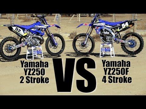 Yamaha YZ250 2 Stroke versus Yamaha YZ250F – Motocross Action